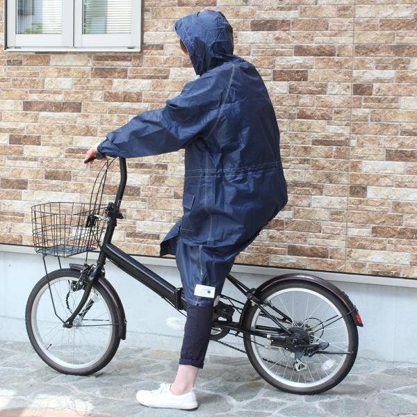 レインコート パーカー トオケミ 自転車 通勤 カッパ|shoesclubc|05