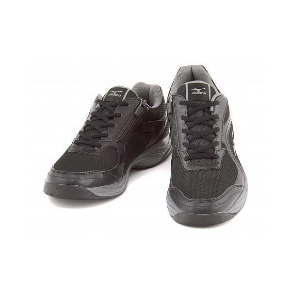 ミズノ メンズ ウォーキングシューズ スニーカー 軽量性 耐久性 3E エクササイズ イージースター3 mizuno B1GE153505 ブラック/グレー|shoesdirect|02