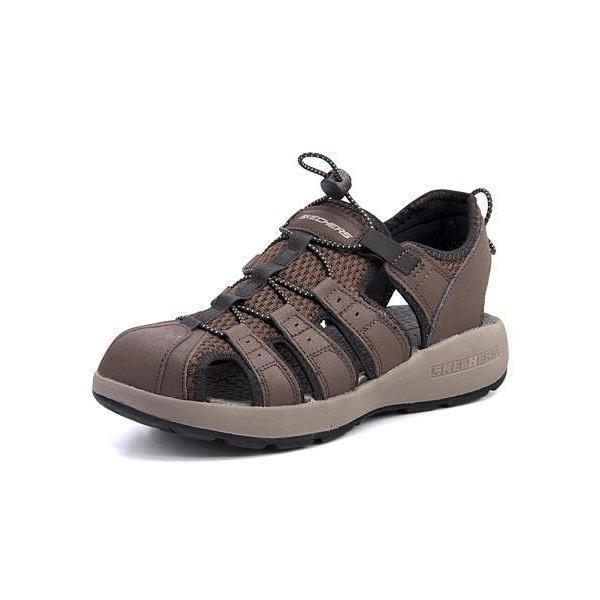 スケッチャーズ スポーツ サンダル メンズ メルボジャーニーマン2 MELBO- JOURNEYMAN 2 SKECHERS 51834 ブラウン|shoesdirect|03