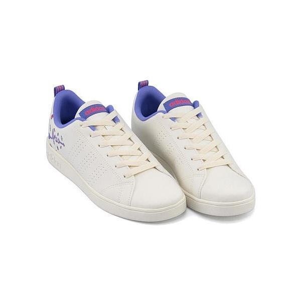 62aa890e53c8d アディダス ローカット スニーカー 女の子 キッズ 子供靴 限定モデル VALCLEAN 2 K adidas DB1937 チョークホワイト ...