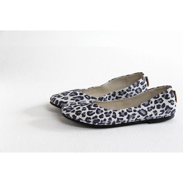 fs/ny エフエススラッシュエヌワイ バレエシューズ sloop WHITE LEOPARD SUEDE 靴
