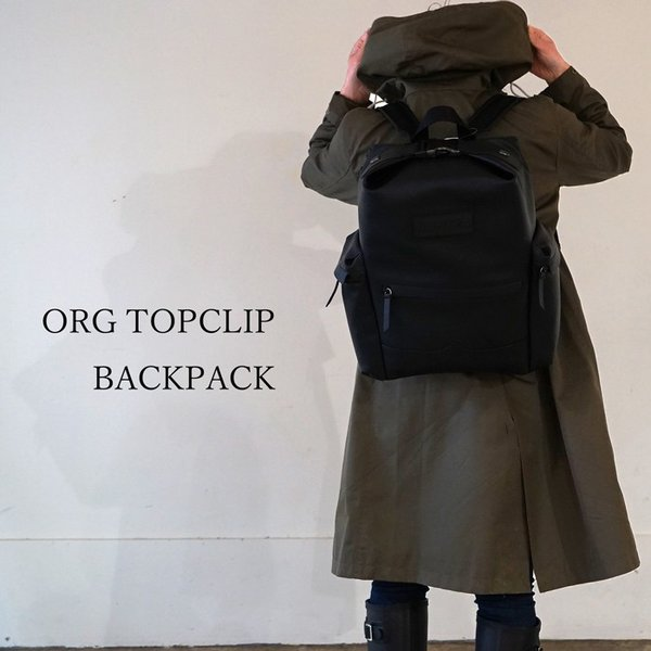 ハンター オリジナル トップクリップ バックパック  ラバーコーティングレザー レインブーツ HUNTER TOPCLIP BACKPACK RUB LTH UBB2022LRS BLK