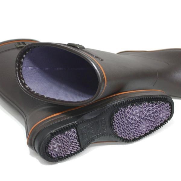 長靴 日本製 第一ゴム パシオン 860 ブラウン レディース 防寒 防雪 防滑 ゴム長靴