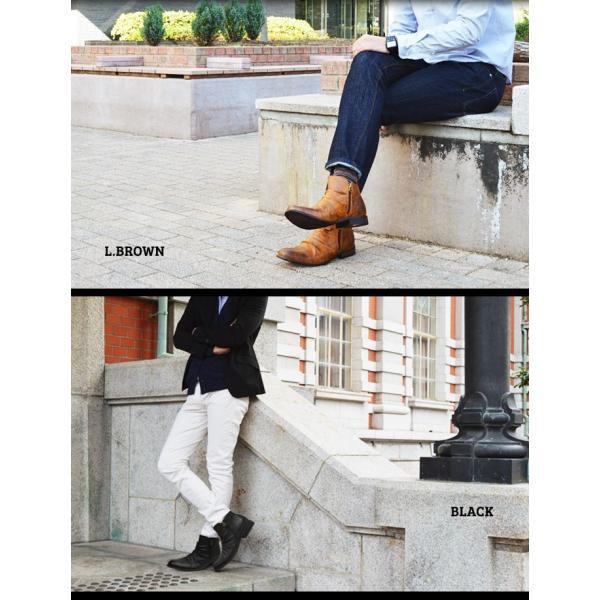 ショートブーツ ブーツ ワークブーツ 靴 メンズ メンズブーツ ドレープブーツ エンジニアブーツ Wジッパー メンズ 靴 男 Zeeno ジーノ 2018 冬|shoesquare|13