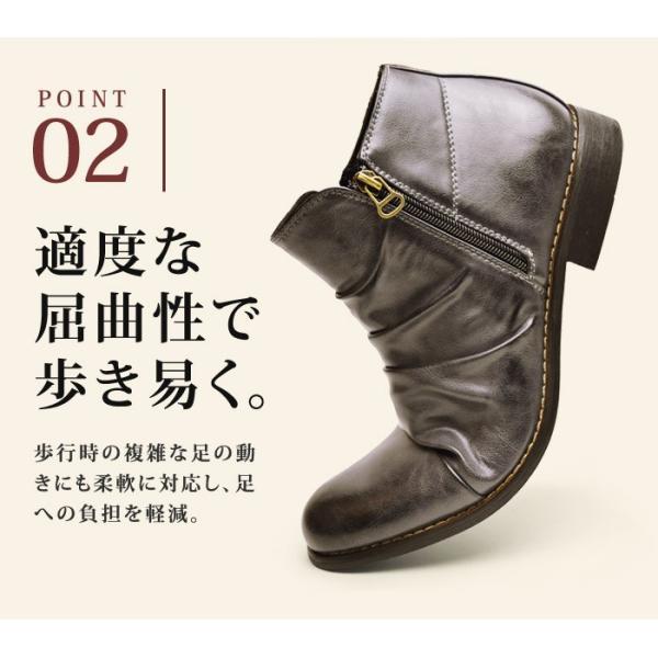 ショートブーツ ブーツ ワークブーツ 靴 メンズ メンズブーツ ドレープブーツ エンジニアブーツ Wジッパー メンズ 靴 男 Zeeno ジーノ 2018 冬|shoesquare|16