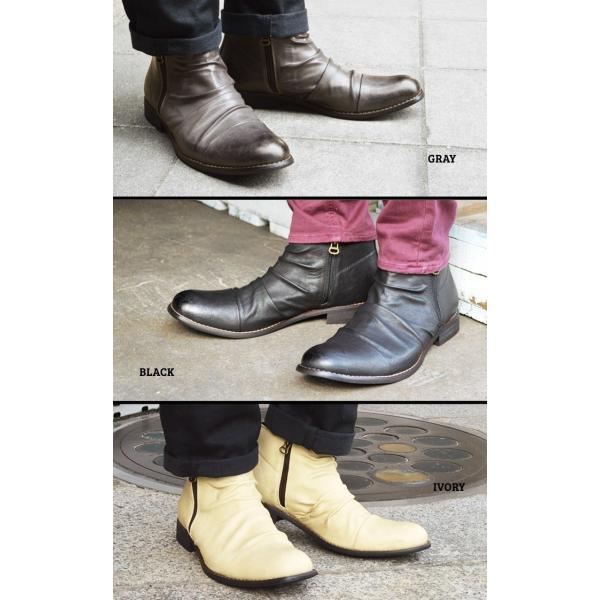ショートブーツ ブーツ ワークブーツ 靴 メンズ メンズブーツ ドレープブーツ エンジニアブーツ Wジッパー メンズ 靴 男 Zeeno ジーノ 2018 冬|shoesquare|19