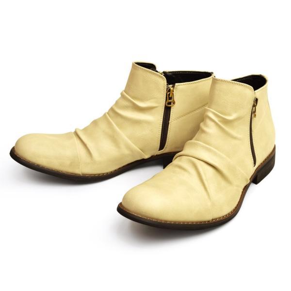 ショートブーツ ブーツ ワークブーツ 靴 メンズ メンズブーツ ドレープブーツ エンジニアブーツ Wジッパー メンズ 靴 男 Zeeno ジーノ 2018 冬|shoesquare|06