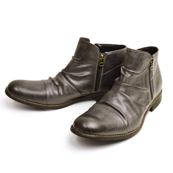 ショートブーツ ブーツ ワークブーツ 靴 メンズ メンズブーツ ドレープブーツ エンジニアブーツ Wジッパー メンズ 靴 男 Zeeno ジーノ 2018 冬|shoesquare|07