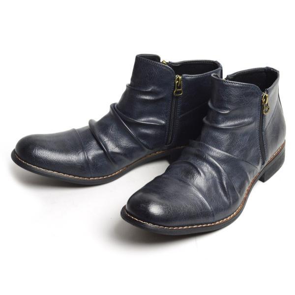 ショートブーツ ブーツ ワークブーツ 靴 メンズ メンズブーツ ドレープブーツ エンジニアブーツ Wジッパー メンズ 靴 男 Zeeno ジーノ 2018 冬|shoesquare|09