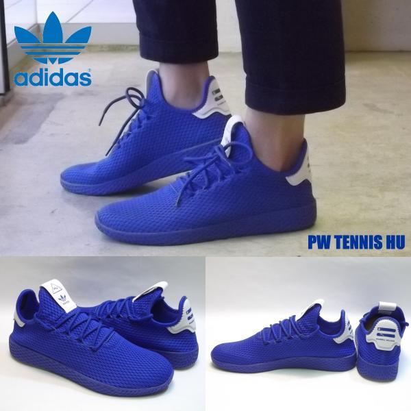 148380eae ADIDAS PW TENNIS HU blue blue ftwwhite アディダス ファレル ウィリアムス テニス フー ブルー  ...
