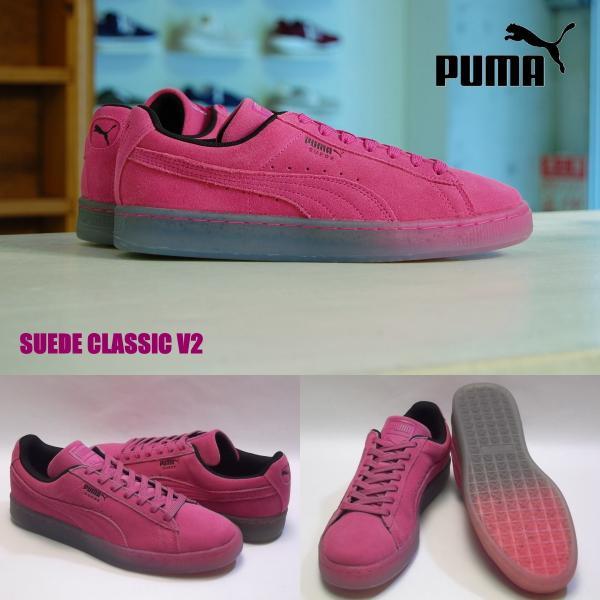 new products ee18e b58b9 SALE PUMA suede classic v2 fadefuture jr pink glo/puma black プーマ スエード クラシック  V2 フェイドフューチャー ピンク 未発売 海外 限定 362901-03