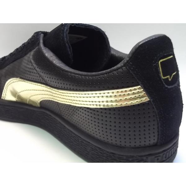 PUMA suede m basket nk puma black/gold プーマ スエード バスケット NICE KICKS ブラック/ゴールド 黒 金 コラボ アメリカ 未発売 海外 限定 363496-01|shoety|07