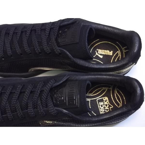 PUMA suede m basket nk puma black/gold プーマ スエード バスケット NICE KICKS ブラック/ゴールド 黒 金 コラボ アメリカ 未発売 海外 限定 363496-01|shoety|09