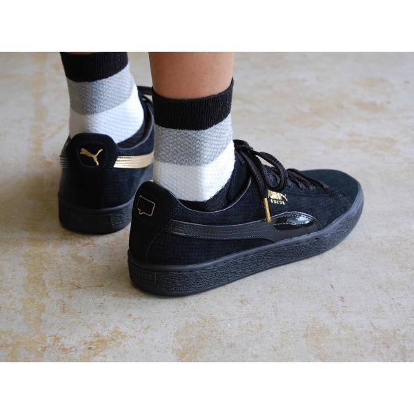 PUMA suede m basket nk puma black/gold プーマ スエード バスケット NICE KICKS ブラック/ゴールド 黒 金 コラボ アメリカ 未発売 海外 限定 363496-01|shoety|10