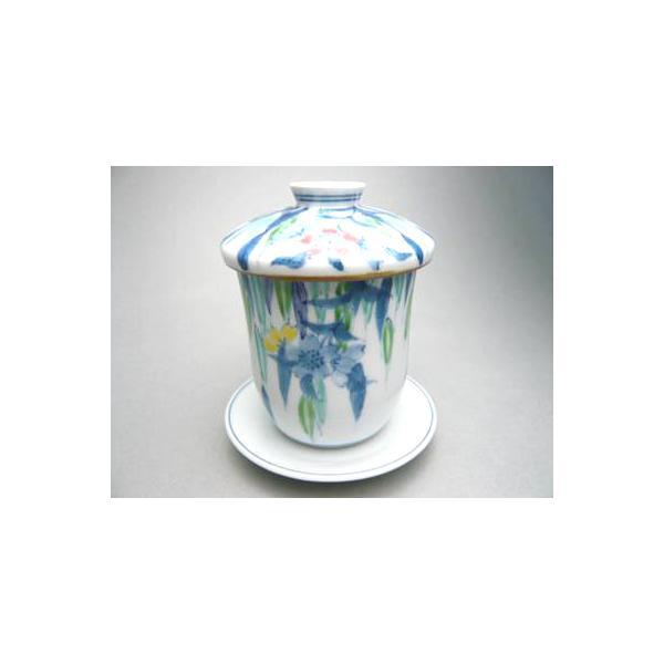 京焼 清水焼     枝垂れ桜 茶碗蒸し 京泉作