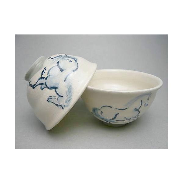 京焼 清水焼     左馬夫婦ご飯茶碗  陶仙|shoindo