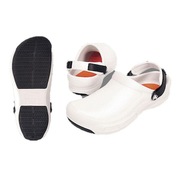 crocs クロックスシューズ ビストロプロクロッグ ホワイト22cm 7-1370-0401 靴(調理場用) shokki-pro