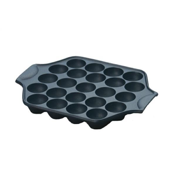 岩鋳 南部鉄器 たこ焼き器 23穴 日本製 IH対応 直火可能 鉄分補給 健康 アウトドア タコヤキ たこ焼きプレート|shokkishibuya