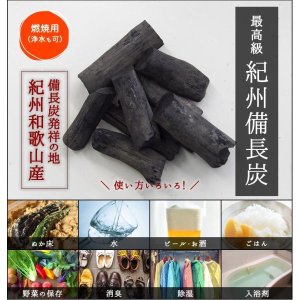 『紀州備長炭「小炭」』 280g前後 炭 木炭 白炭 浄水 炊飯 消臭 国産 水 shokunooishasan 02