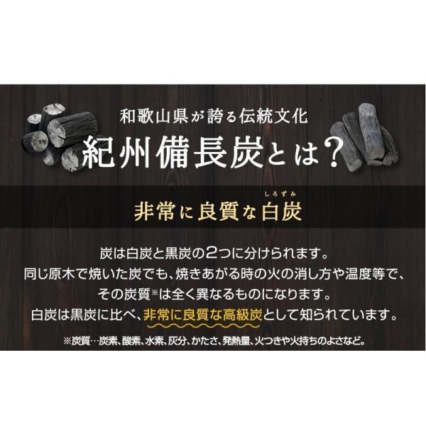 『紀州備長炭「小炭」』 280g前後 炭 木炭 白炭 浄水 炊飯 消臭 国産 水 shokunooishasan 04