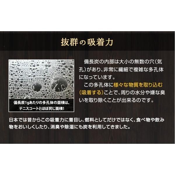 『紀州備長炭「小炭」』 280g前後 炭 木炭 白炭 浄水 炊飯 消臭 国産 水 shokunooishasan 06