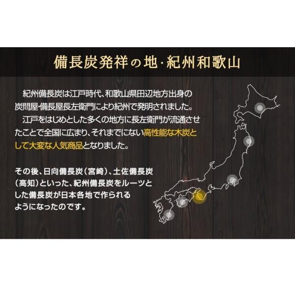 『紀州備長炭「小炭」』 280g前後 炭 木炭 白炭 浄水 炊飯 消臭 国産 水 shokunooishasan 07
