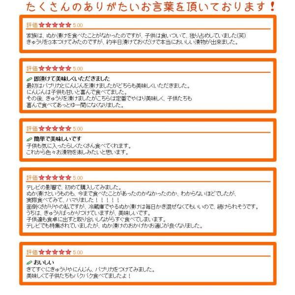 テレビでも話題のぬか床!漬けもん屋の『ぬか床800g(袋入り)』メール便送料無料!|shokunooishasan|11