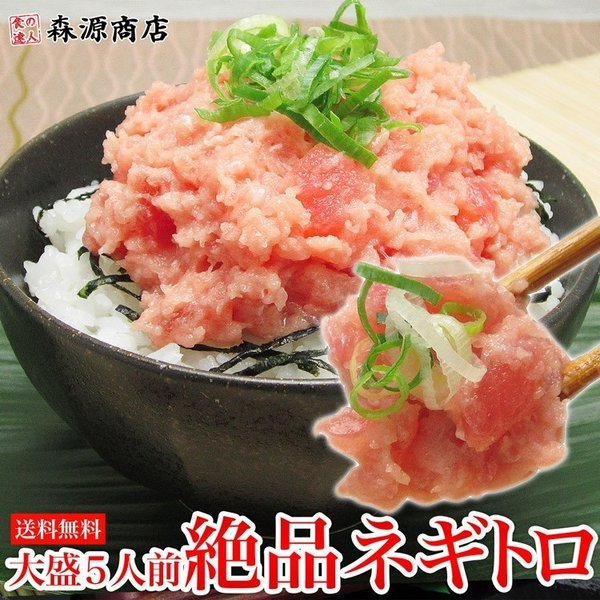 ネギトロ 冷凍 500g (100g×5パック) タレ付き まぐろ マグロ 鮪 ねぎとろ 刺身 丼 お取り寄せ
