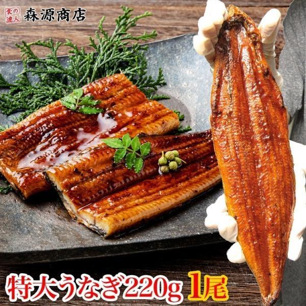 うなぎ 鰻 タレ付き 焼きウナギ 約220g 1尾 1本 特大 かば焼き 蒲焼き 中国産 冷凍便 ギフト お取り寄せ