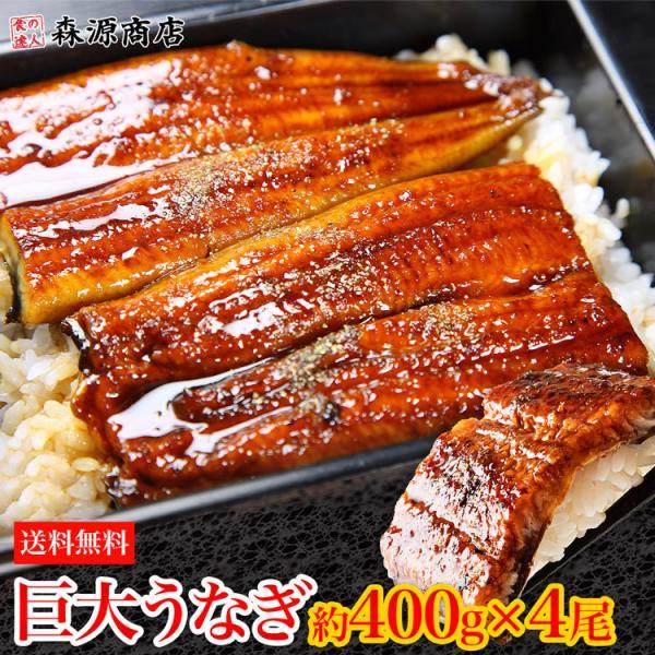 うなぎ 蒲焼き 鰻 約1.6kg (約400g前後×4尾) 4本 特大 巨大 ウナギ かば焼き タレ 冷凍便 ギフト お取り寄せ