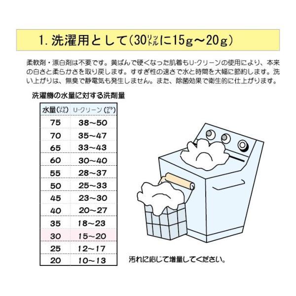 除菌洗浄剤 3kg U-CLEAN(Uクリーン)1kg 3個セット|shonan-fragrance|02