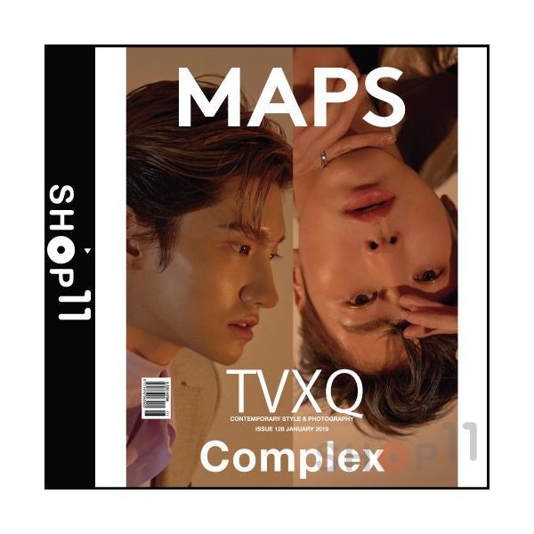 2019年 1月号 MAPS マップ TVXQ 東方神起 画報 インタビュー 韓国 雑誌 マガジン Korean Magazine 【レビューで生写真5枚】 shop-11