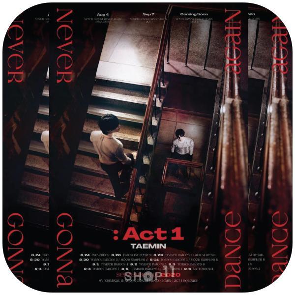 【VER選択|全曲和訳】TAEMIN Never Gonna Dance Again ACT1 3rd Album テミン 3集【先着ポスター|レビューで生写真5枚|送料無料】|shop-11