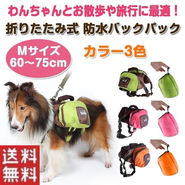 犬用 折りたたみ式防水 バックパック お出かけ用 お散歩用 折りたたみ式 旅行用 リュック 内側メッシュ加工 ペット用品  Mサイズ  ALW-PD305-M|shop-always