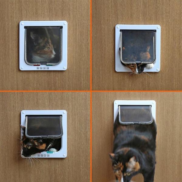 ペットドア Sサイズ 扉 猫 小型犬 キャットドア ドッグ 出入り口 ペット用品 勝手口 ペット用品 ◇ALW-KL-GD-S|shop-always|03