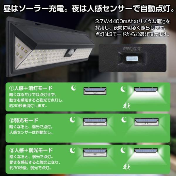 90LED ソーラーライト 4個セット センサー 防水 ALW-JY1806-90-4SET|shop-always|02