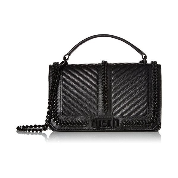 レベッカミンコフRebecca Minkoff Love Crossbody with Chain and Top Handle, Black