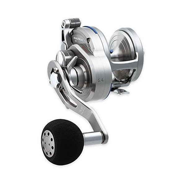 リールDaiwa SASD15HL Saltiga Star Test Seaborg Megatwin 2SPD Power Assist Fishing Reel, 12-20 lb, Silver