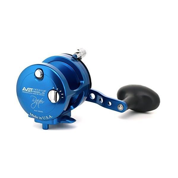 リールAvet MXJ 6/4 MC Raptor Reels - Right-Handed - Blue