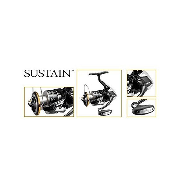 リールShimano Sustain FI SA4000XGFI Spinning Fishing Reel, Gear Ratio: 6.2:1