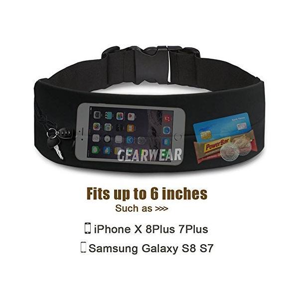 海外正規品GEARWEAR Running Belt Workout Waist Bag Pack for iPhone 7 X 8 6 Plus Man Woman/Lightweight Phone Runners Belt for W|shop-angelica|02