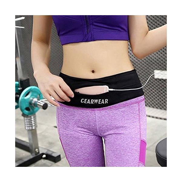 海外正規品GEARWEAR Running Belt Workout Waist Bag Pack for iPhone 7 X 8 6 Plus Man Woman/Lightweight Phone Runners Belt for W|shop-angelica|05