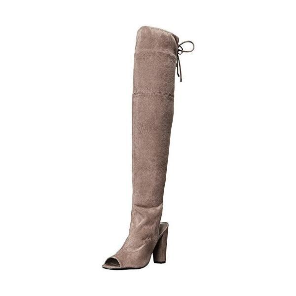 ゲスGUESS Women's Galle Riding Boot, Gray, 10 M US