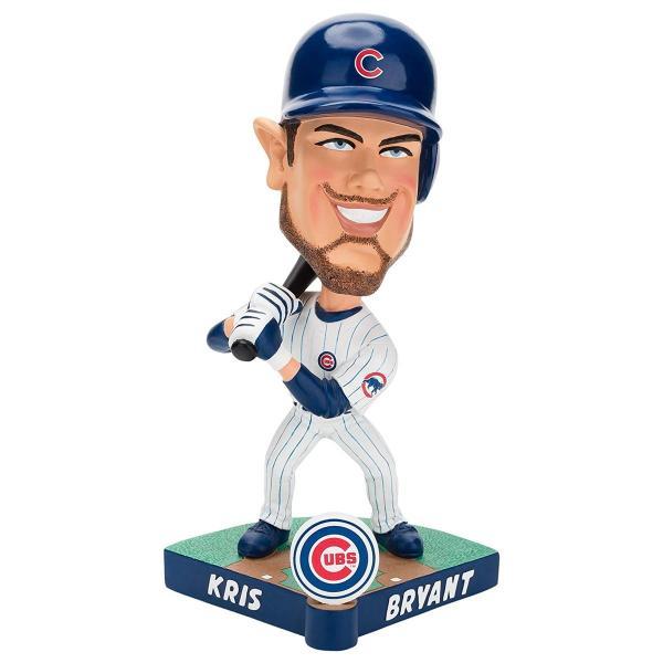 ボブルヘッドForever Collectibles MLB Chicago Cubs Mens Chicago Cubs Bobble Caricature Style Kris Bryant Design, Team Colors shop-angelica