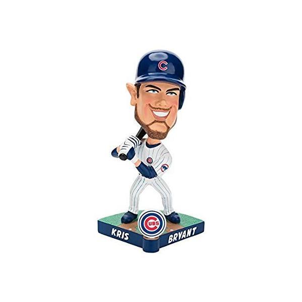 ボブルヘッドForever Collectibles MLB Chicago Cubs Mens Chicago Cubs Bobble Caricature Style Kris Bryant Design, Team Colors shop-angelica 02