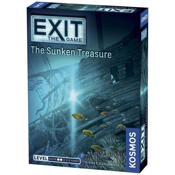 英語Exit: The Sunken Treasure | Exit: The Game - A Kosmos Game | Family-Friendly, Card-Based at-HoStandard|shop-angelica