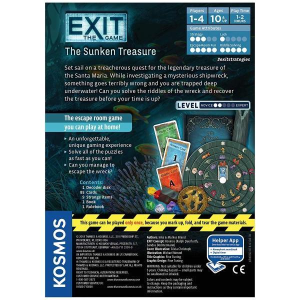 英語Exit: The Sunken Treasure | Exit: The Game - A Kosmos Game | Family-Friendly, Card-Based at-HoStandard|shop-angelica|02