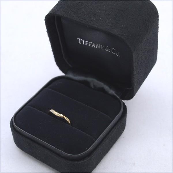 TIFFANY&Co. / ティファニー  カーブド バンドリング 3Pダイヤ 750PG 7号 ブランド 中古