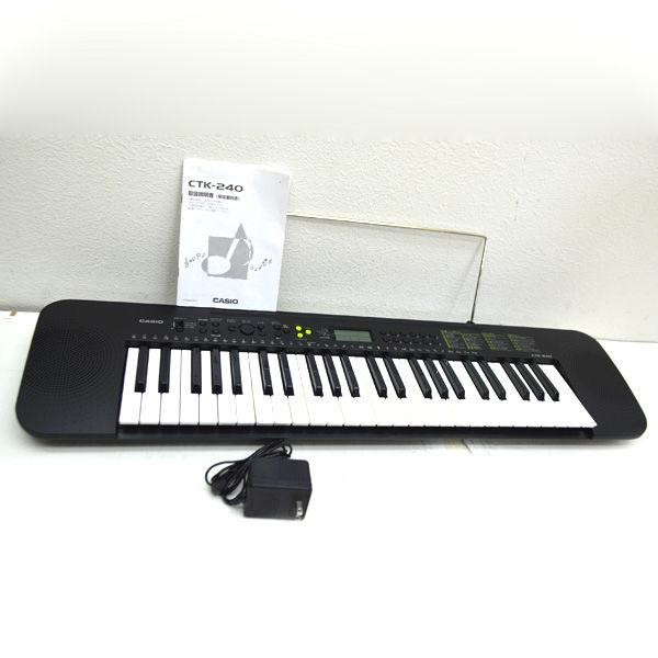 CASIO / カシオ  電子キーボード CTK-240 動作確認済み ピアノ 入門 バンド 軽音 CTK-240 楽器 中古   代引不可 同梱不可