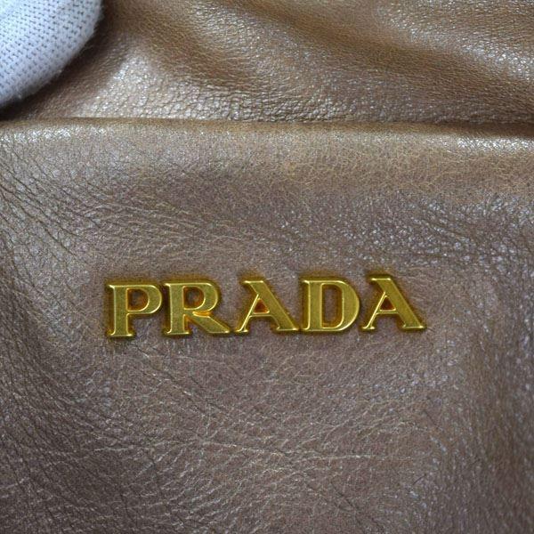 PRADA / プラダ  レザーハンドバッグ ブロンズグラディエーション BL0542